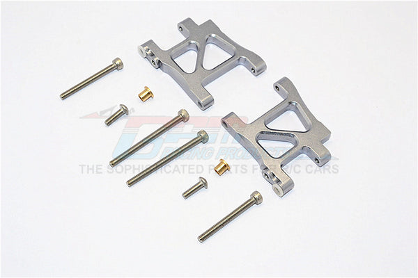 Tamiya TA02T Aluminum Rear Suspension Arm - 1Pr Set Gray Silver
