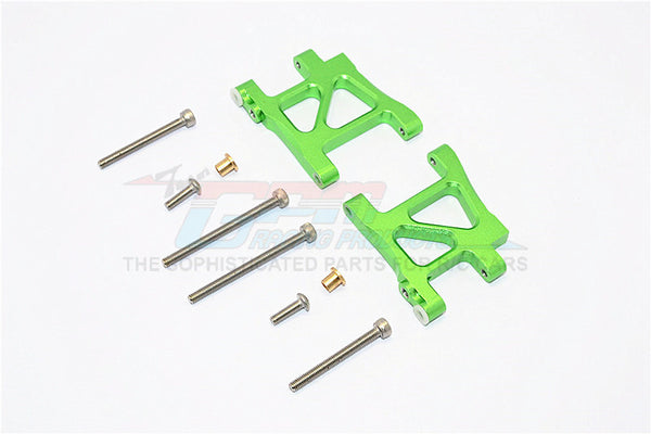 Tamiya TA02T Aluminum Rear Suspension Arm - 1Pr Set Green