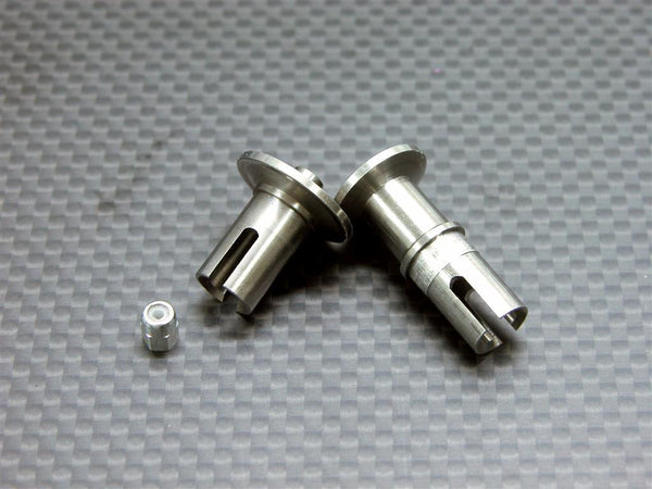 Team Associated RC18T Titanium Front/Rear Ball Differential Joint With Lock Nut - 2 Pcs Set