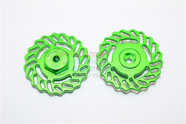 Traxxas LaTrax Teton & LaTrax SST Aluminum Brake Disk +2.5mm Thick - 2Pcs Set Green