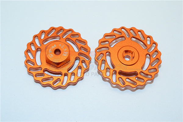 Traxxas LaTrax Teton & LaTrax SST Aluminum Brake Disk +2.5mm Thick - 2Pcs Set Orange