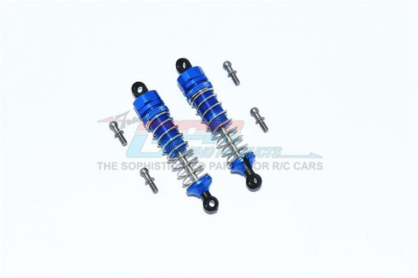 Traxxas LaTrax Teton Aluminum Front Or Rear Spring Dampers 59mm - 1 Pair Set Blue
