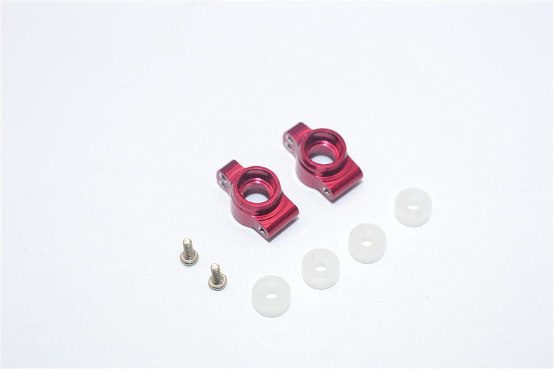 Team Losi Micro T Aluminum Rear Knuckle Arm With Screws & Delrin Collars -  1Pr Set Red