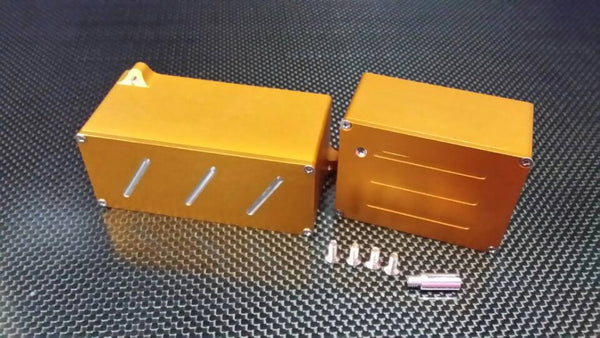 Traxxas T-Maxx Aluminum Battery Cover Box + Receiver Box - 1 Set Gold