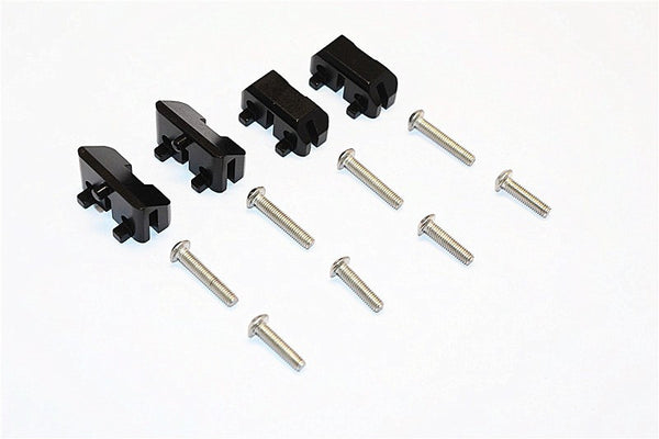 Aluminum Front & Rear Completed Servos Mount - 2Prs Set Black
