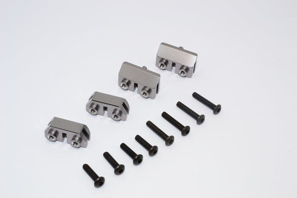 Traxxas Revo & Revo 3.3 Aluminum Front & Rear Completed Servos Mount With Screws - 2Prs Set Gray Silver