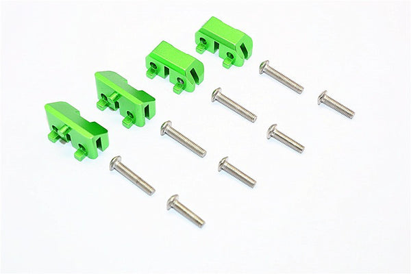 Aluminum Front & Rear Completed Servos Mount - 2Prs Set Green