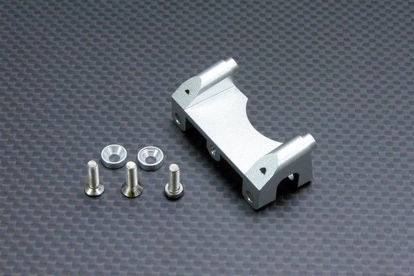 Traxxas Revo, Revo 3.3, E-Revo Aluminum Front Shock Tower With Counter Sink Washers & Screws - 1Pc Set Silver