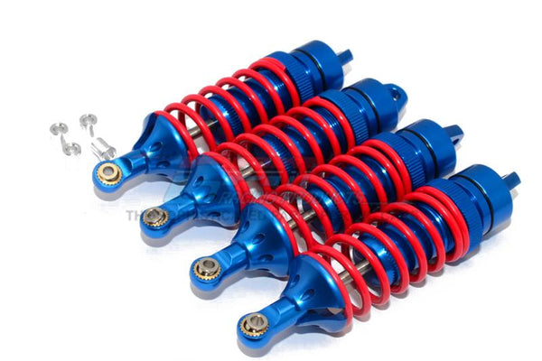 Traxxas Revo / Revo 3.3 / E-Revo Brushless / E-Revo VXL 2.0 Alloy Front Or Rear Adjustable Spring Dampers (85mm)With Alloy Ball Ends - 2Pr Set Blue