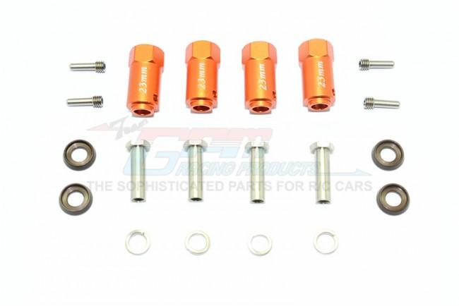 Traxxas TRX-4 Trail Defender Crawler Aluminum Wheel Hex Adapters 23mm Thick - 4Pc Set Orange