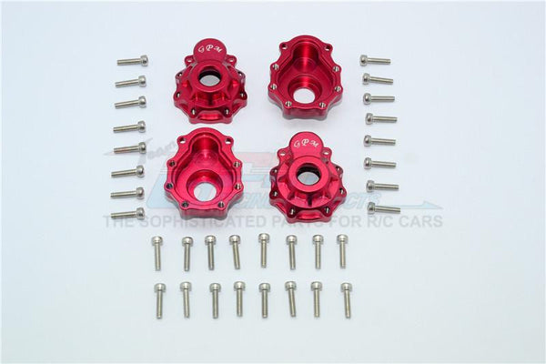 Traxxas TRX-4 Trail Defender Crawler Aluminum Outer Portal Drive Housing (Front And Rear) - 4Pcs Set Red