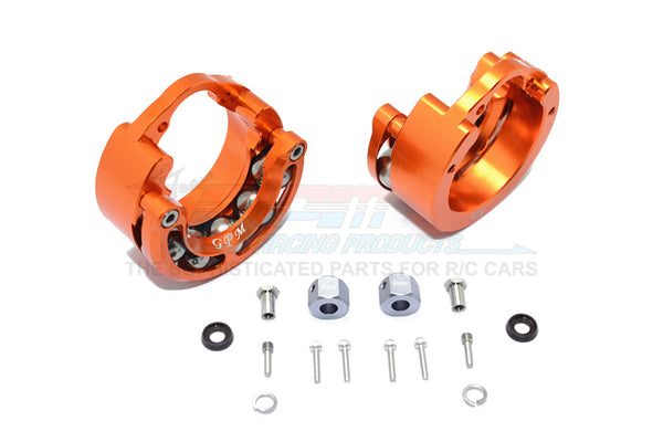 Traxxas TRX-4 Trail Defender Crawler / TRX-6 Mercedes-Benz G63 Aluminum Pendulum Wheel Knuckle Axle Weight + 9mm Hex Adapter - 1Pr Set Orange