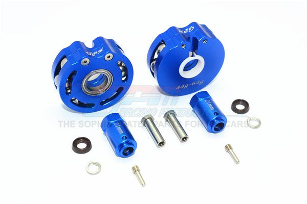 Traxxas TRX-4 Trail Defender Crawler Aluminum Pendulum Wheel Knuckle Axle Weight + 21mm Hex Adapter - 1Pr Set Blue