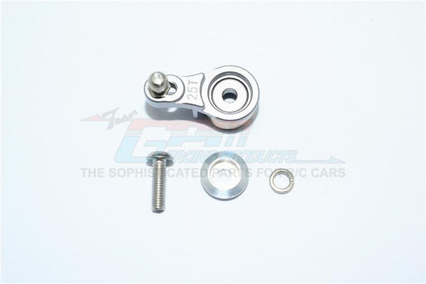 Traxxas TRX-4 Trail Defender Crawler Aluminum Servo Horn With Built-In Spring (For Locking Diff) - 1Pc Set Gray Silver