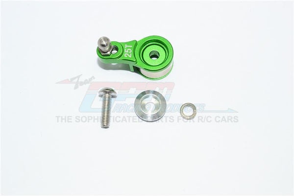 Traxxas TRX-4 Trail Defender Crawler Aluminum Servo Horn With Built-In Spring (For Locking Diff) - 1Pc Set Green