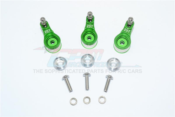 Traxxas TRX-4 Trail Defender Crawler Aluminum Servo Horn With Built-In Spring (For Locking Diff) - 3Pc Set Green