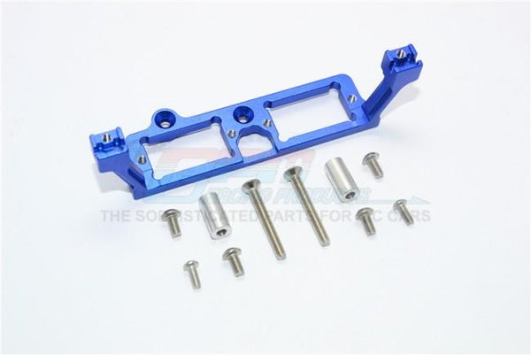 Traxxas TRX-4 Trail Defender Crawler Aluminum Front And Rear Gear Box 2-Speed Diff Lock Servo Mount - 1Pc Set Blue