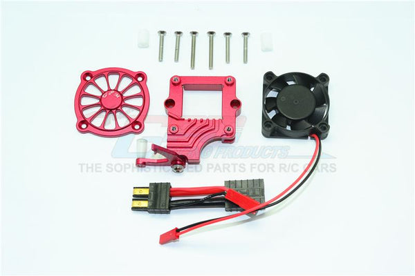 Traxxas TRX-4 Trail Defender Crawler Aluminum Motor Cooling Fan With Easy Switch - 1 Set Red