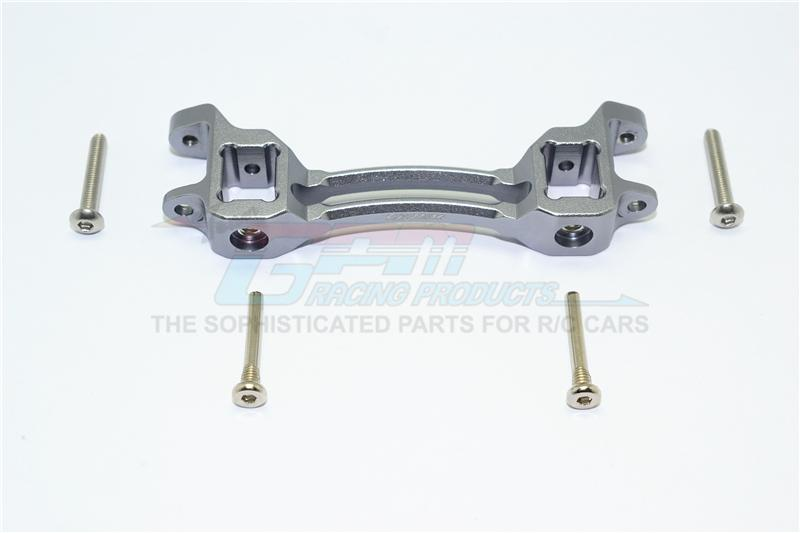 Traxxas TRX-4 Trail Defender Crawler Aluminum Front/Rear Body Post Mount - 1Pc Set Gray Silver