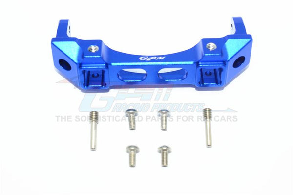 Traxxas TRX-4 Trail Defender Crawler Aluminium Front Bumper Mount - 1Pc Set Blue