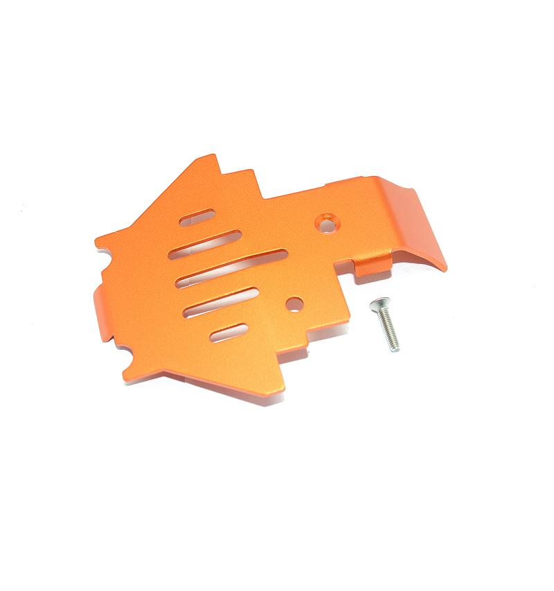 Traxxas TRX-4 Trail Defender Crawler Aluminum Center Gear Box Bottom Protector Mount - 1Pc Set Orange