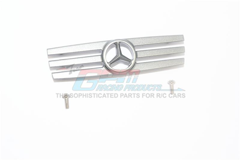 R/C Scale Accessories : Aluminum Grille For Traxxas TRX-4 Mercedes-Benz G500 (82096-4) / TRX-6 Mercedes-Benz G63 (88096-4) - 1Pc Set Gray Silver