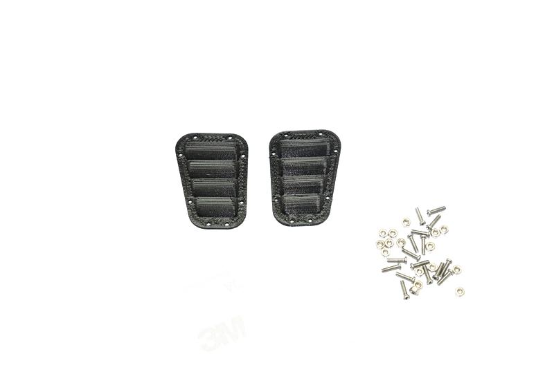R/C Scale Accessories : Simulation Fender Vent For TRX-4 Crawler - 1Pr Set Black
