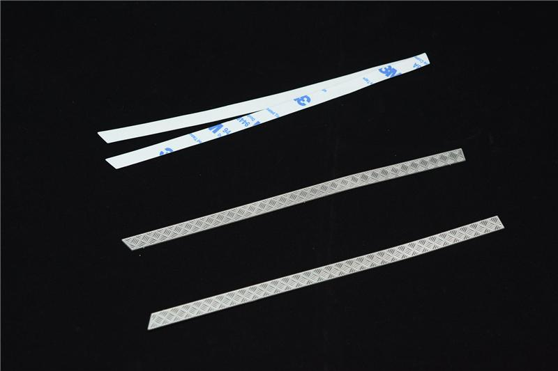 R/C Scale Accessories : Simulation Stainless Steel Slip Proof Tread For TRX-4 Body Sides - 1Pr Set