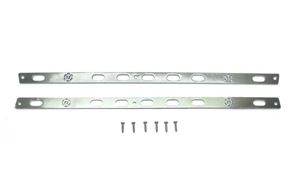 R/C Scale Accessories : Stainless Steel Door Edge Anti Scratch Strip For TRX-4 Trail Defender Crawler - 1Pr Set Silver