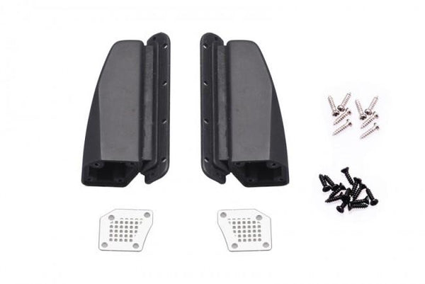 R/C Scale Accessories : Metal Cover Fender Vent For Traxxax TRX-4 Ford Bronco (82046-4) - 24Pc Set Black