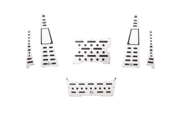 R/C Scale Accessories : Stainless Steel Slip Proof Tread For Traxxas TRX-4 Trail Defender Crawler - 62Pc Set