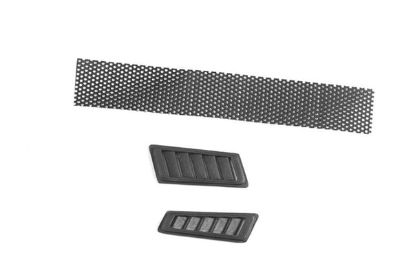 R/C Scale Accessories : Fender Vent For Traxxas TRX-4 Mercedes-Benz G500 (82096-4) - 3Pc Set Black