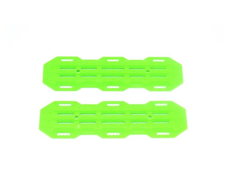 R/C Scale Accessories : Traction Board For 1:10 Crawlers (Version A) - 2Pc Set Green