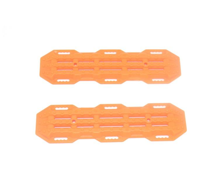 R/C Scale Accessories : Traction Board For 1:10 Crawlers (Version A) - 2Pc Set Ornage