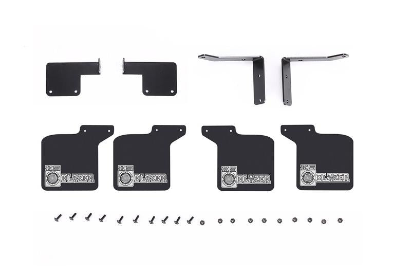 R/C Scale Accessories : Front & Rear Skid Plate For Traxxas TRX-4 Chevrolet K5 Blazer (82076-4) - 28Pc Set Black