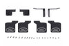 R/C Scale Accessories : Front & Rear Skid Plate For Traxxas TRX-4 Ford Bronco (82046-4) - 28Pc Set Black