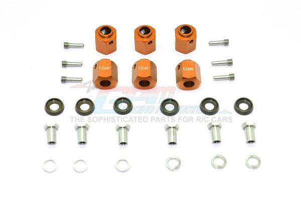 Traxxas TRX-6 Mercedes-Benz G63 (88096-4) Aluminum Hex Adapters 12mm Thick - 30Pc Set Orange