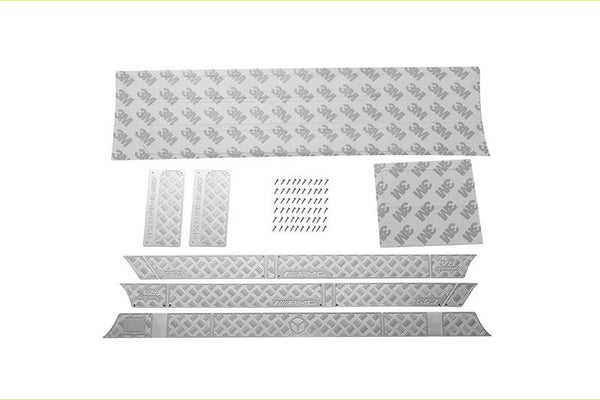R/C Scale Accessories : Stainless Steel Slip Proof Tread For TRX-6 Mercedes-Benz G63 (88096-4) / TRX-4 Mercedes-Benz G500 (82096-4) Body Sides (Amg Version A) - 67Pc Set Silver