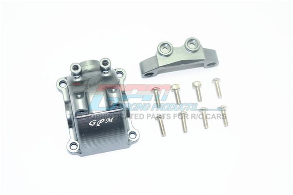 Tamiya TT-02 / TT-02T Aluminum Front Or Rear Gearbox Cover + Upper Arm Stabilizer - 1 Set Gray Silver