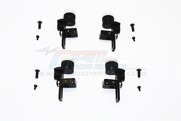 Tamiya TT02T Aluminum Front & Rear Body Post Mount With 12mm Magnet - 4Pcs Set Black