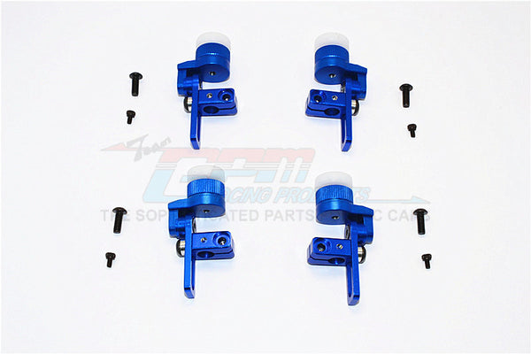 Tamiya TT02T Aluminum Front & Rear Body Post Mount With 12mm Magnet - 4Pcs Set Blue