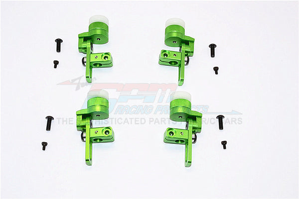 Tamiya TT02T Aluminum Front & Rear Body Post Mount With 12mm Magnet - 4Pcs Set Green