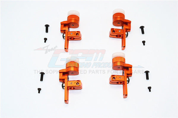 Tamiya TT02T Aluminum Front & Rear Body Post Mount With 12mm Magnet - 4Pcs Set Orange