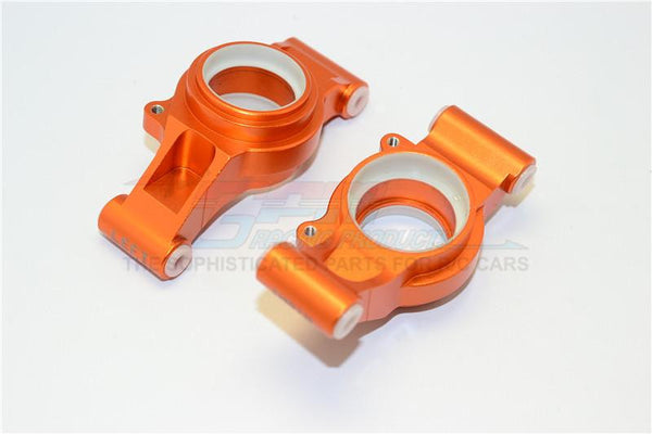 Traxxas X-Maxx 4X4 Aluminum Rear Knuckle Arms With Collars - 1Pr Set Orange