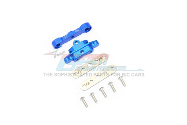 Traxxas 1/10 Maxx 4WD Monster Truck Aluminum Front Lower Arm Tie Bar Mount - 9Pc Set Blue