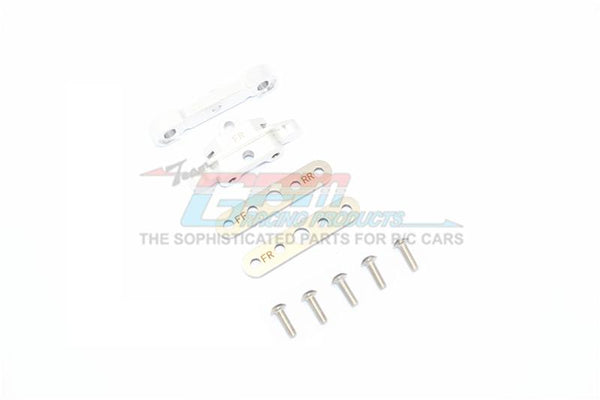 Traxxas 1/10 Maxx 4WD Monster Truck Aluminum Front Lower Arm Tie Bar Mount - 9Pc Set Silver