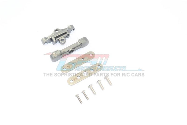 Traxxas 1/10 Maxx 4WD Monster Truck Aluminum Rear Lower Arm Tie Bar Mount - 9Pc Set Gray Silver