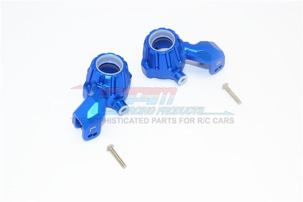 Traxxas 1/10 Maxx 4WD Monster Truck Aluminum Front Knuckle Arms - 1Pr Set Blue