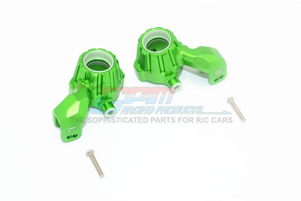 Traxxas 1/10 Maxx 4WD Monster Truck Aluminum Front Knuckle Arms - 1Pr Set Green