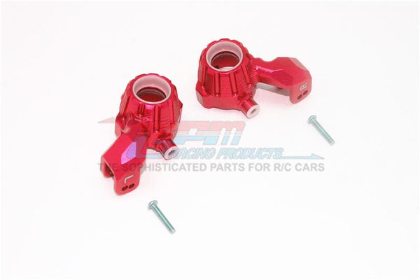Traxxas 1/10 Maxx 4WD Monster Truck Aluminum Front Knuckle Arms - 1Pr Set Red